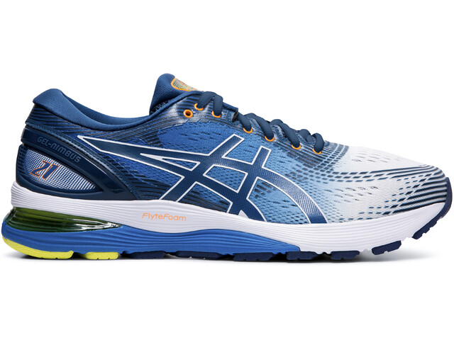 new styles e9335 2d7c2 asics Gel-Nimbus 21 Shoes Men white/lake drive